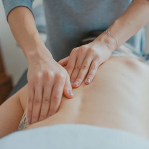 Receiving a Swedish Massage in north London